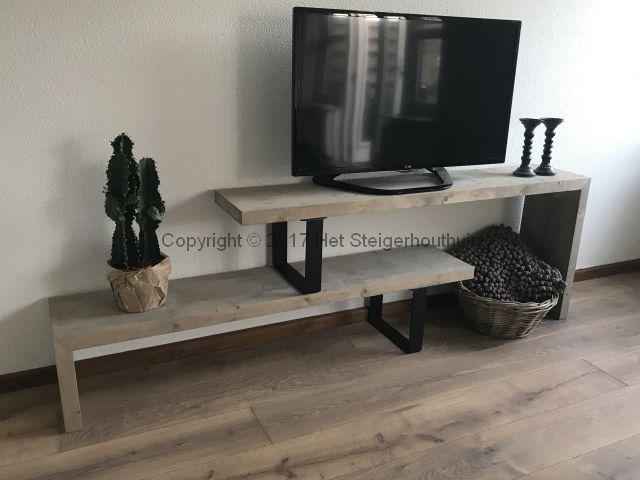Steigerhout Tv Kast : Tv meubel industrieel flex het steigerhouthuis