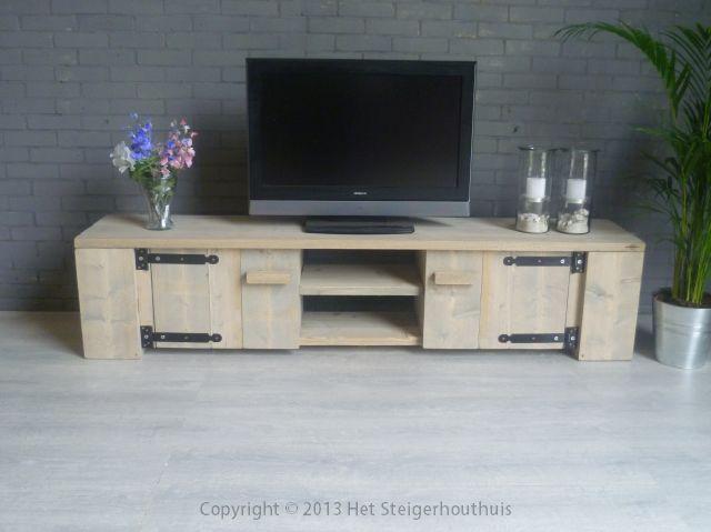 Tv meubel landelijk het steigerhouthuis for Meubels landelijke stijl