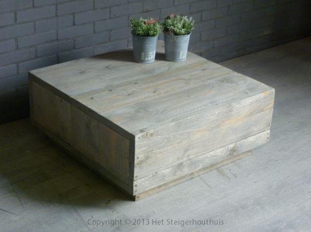 Tafel Steigerhout Goedkoop : Salontafel zwevend het steigerhouthuis